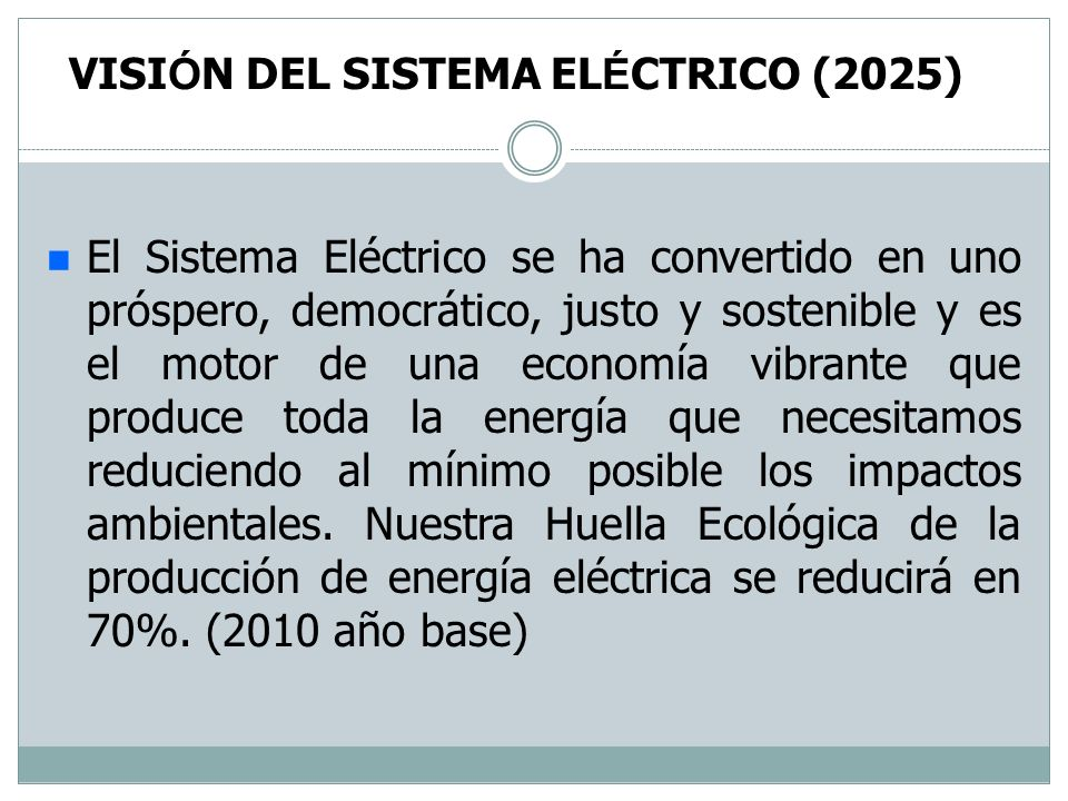 VISIÓN DEL SISTEMA ELÉCTRICO (2025)