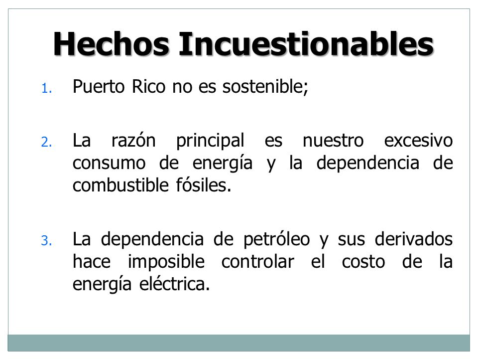 Hechos Incuestionables