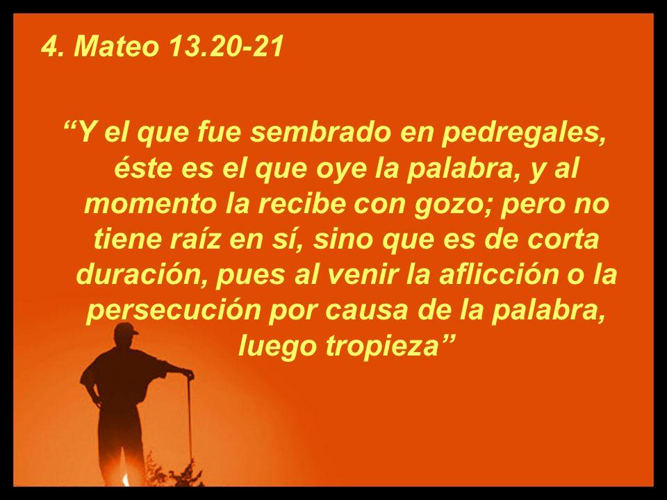 4. Mateo 13.20-21