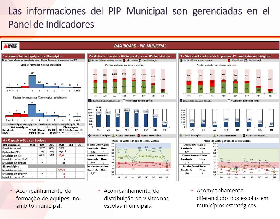 Las informaciones del PIP Municipal son gerenciadas en el Panel de Indicadores