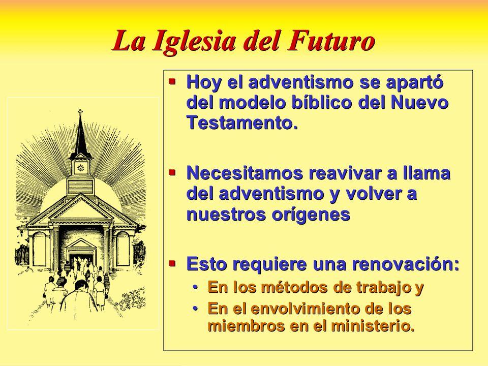 La Iglesia del Futuro Hoy el adventismo se apartó del modelo bíblico del Nuevo Testamento.