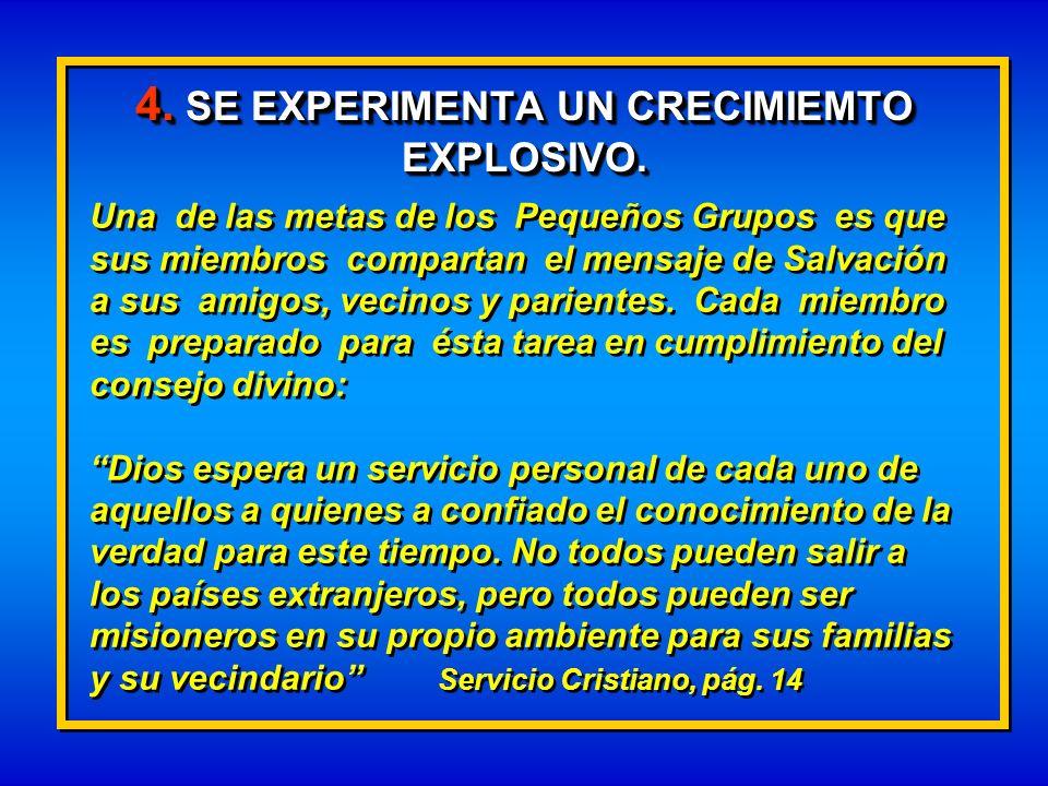 4. SE EXPERIMENTA UN CRECIMIEMTO EXPLOSIVO.