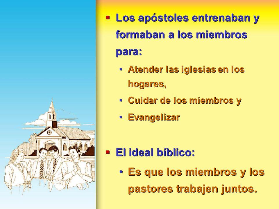 Los apóstoles entrenaban y formaban a los miembros para: