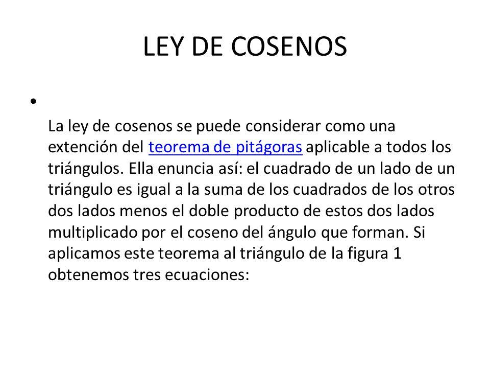 LEY DE COSENOS