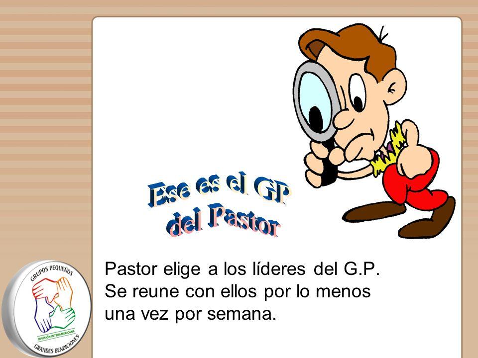Ese es el GP del Pastor. Pastor elige a los líderes del G.P.