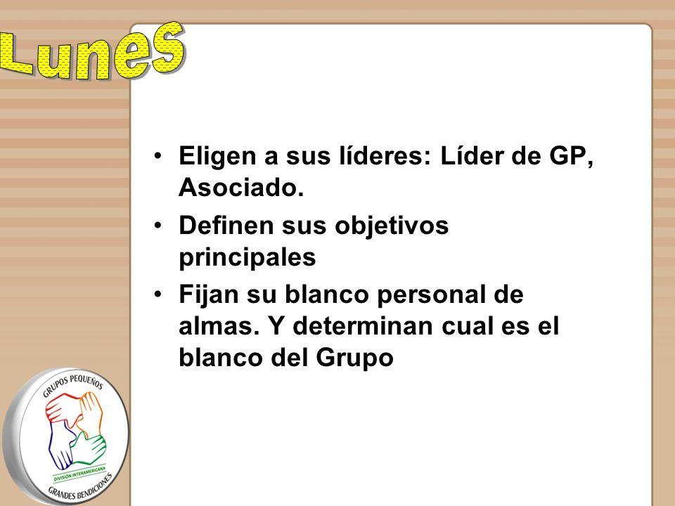 Lunes Eligen a sus líderes: Líder de GP, Asociado.