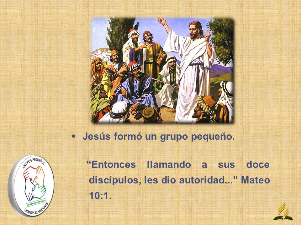 Jesús formó un grupo pequeño.