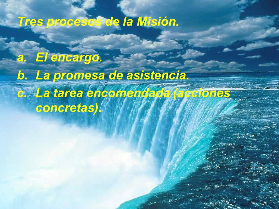 Tres procesos de la Misión.