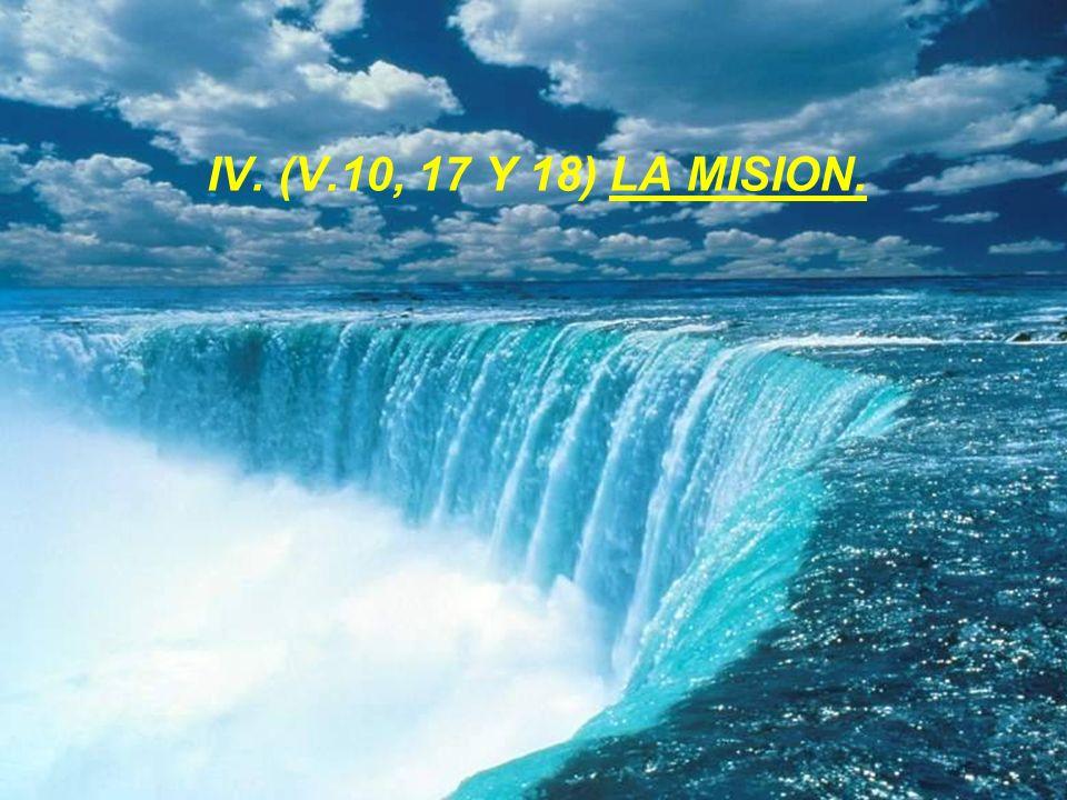 IV. (V.10, 17 Y 18) LA MISION.