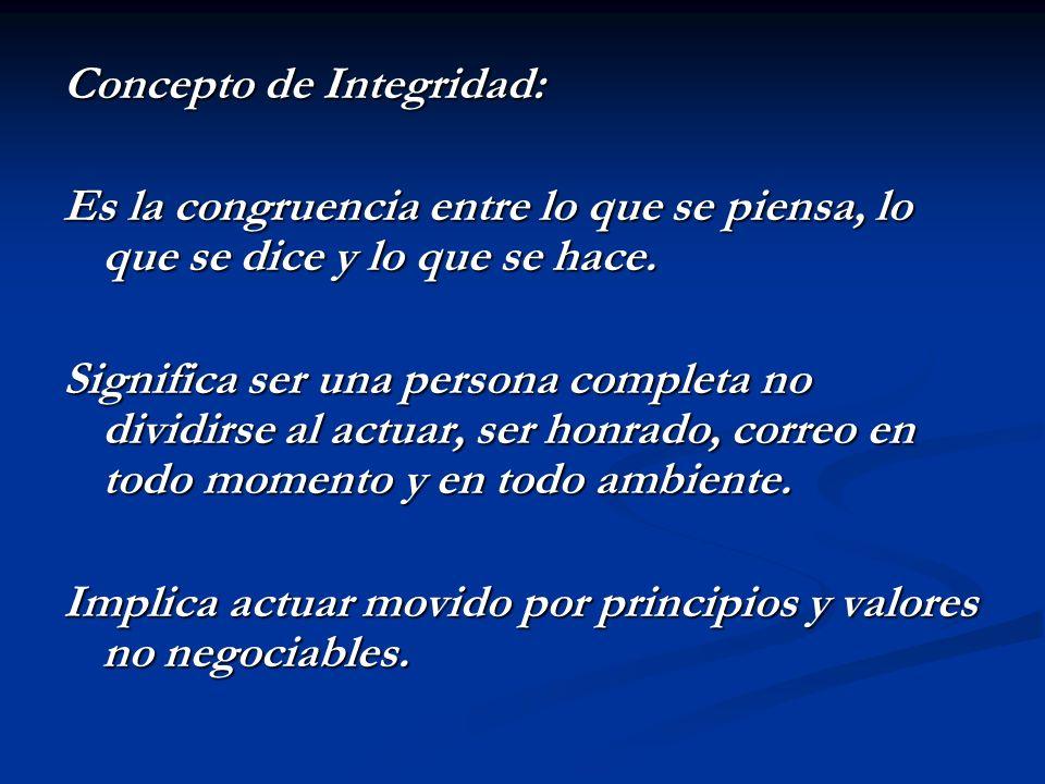 Concepto de Integridad:
