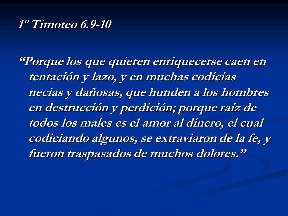 1º Timoteo 6.9-10