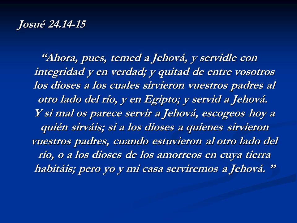 Josué 24.14-15