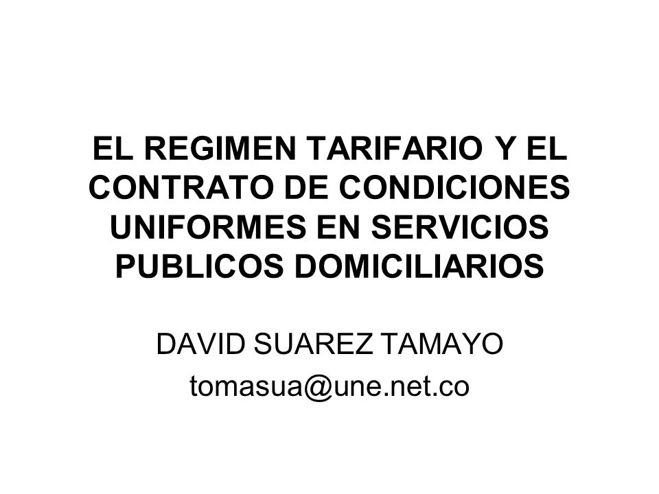 DAVID SUAREZ TAMAYO tomasua@une.net.co