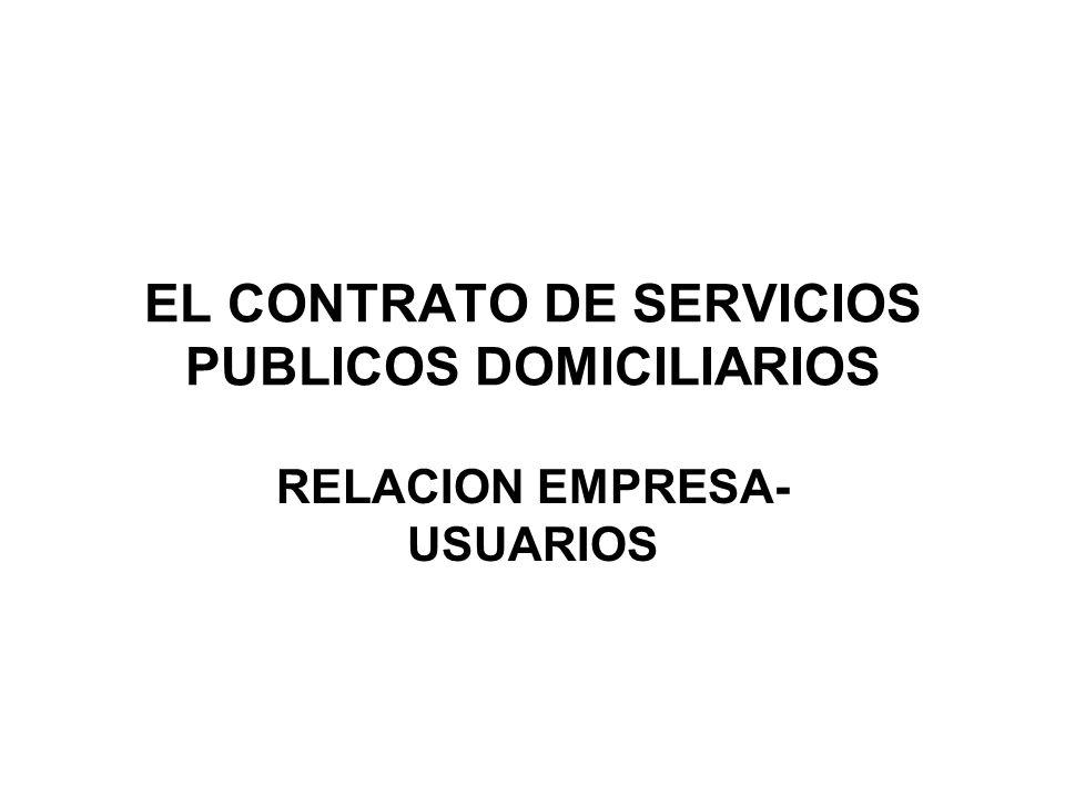 EL CONTRATO DE SERVICIOS PUBLICOS DOMICILIARIOS