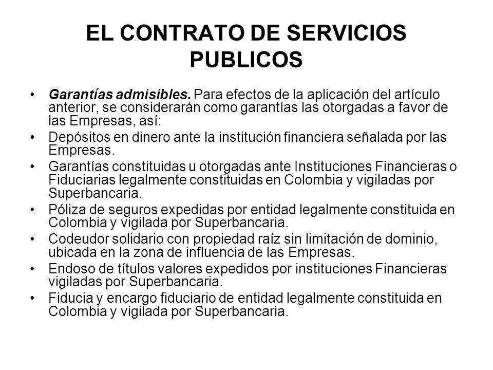 EL CONTRATO DE SERVICIOS PUBLICOS