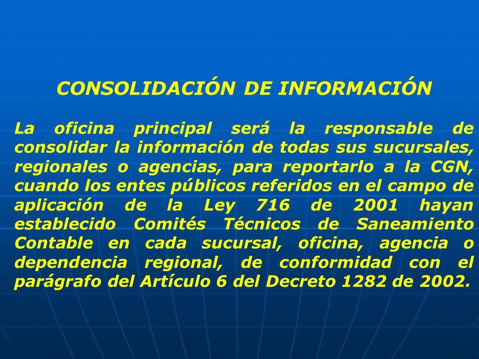 CONSOLIDACIÓN DE INFORMACIÓN