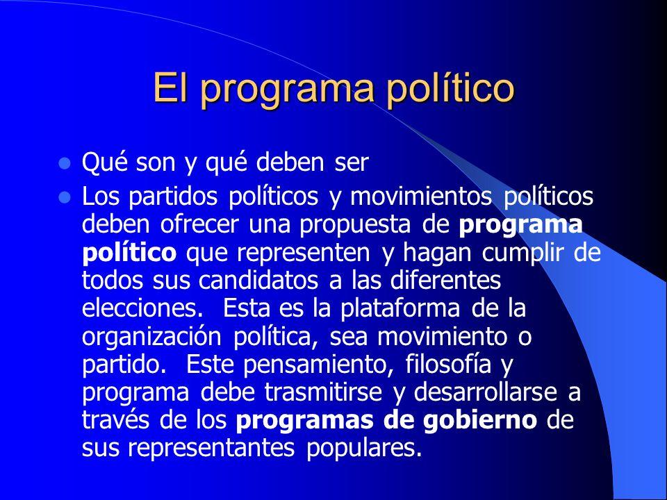 El programa político Qué son y qué deben ser