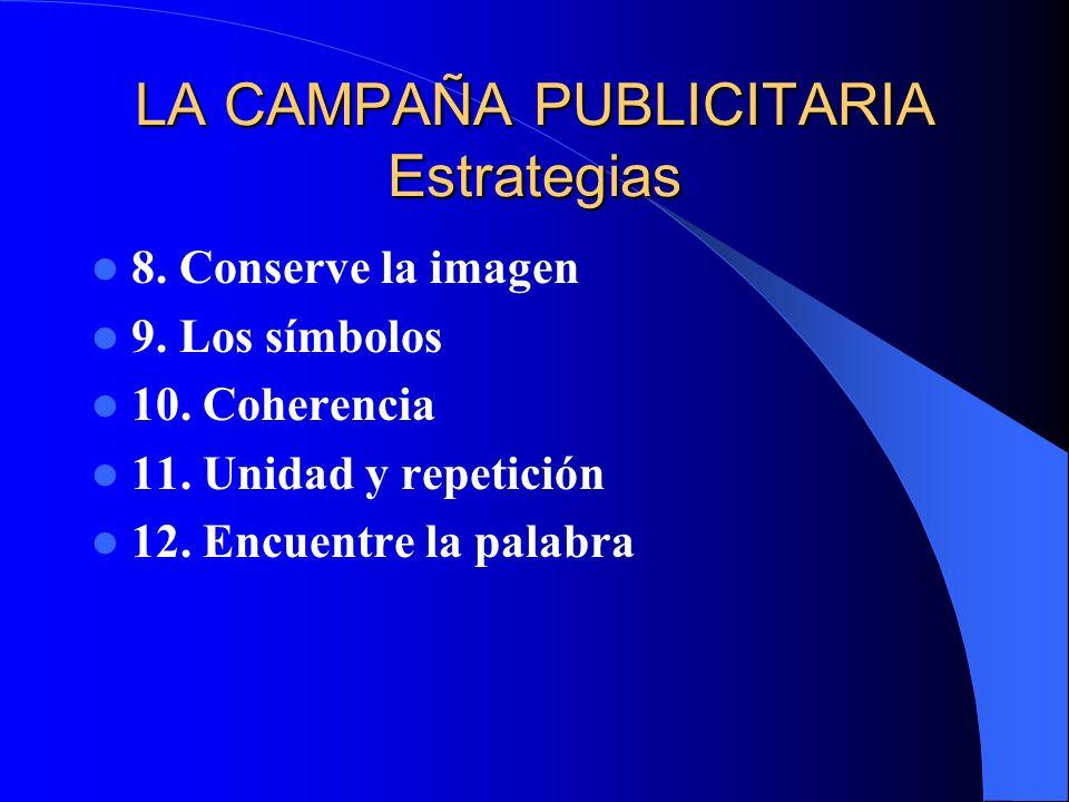 LA CAMPAÑA PUBLICITARIA Estrategias