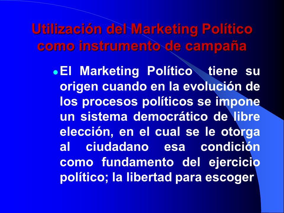 Utilización del Marketing Político como instrumento de campaña