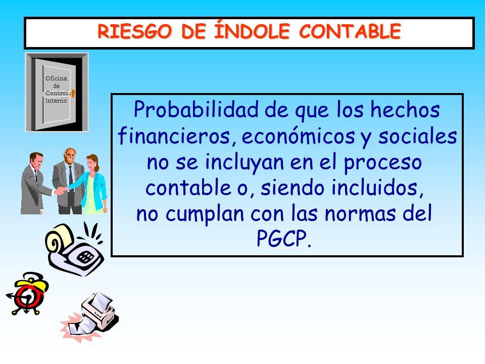RIESGO DE ÍNDOLE CONTABLE