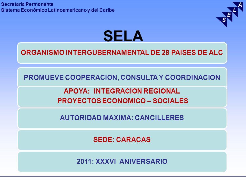 SELA ORGANISMO INTERGUBERNAMENTAL DE 28 PAISES DE ALC