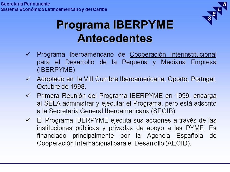 Programa IBERPYME Antecedentes