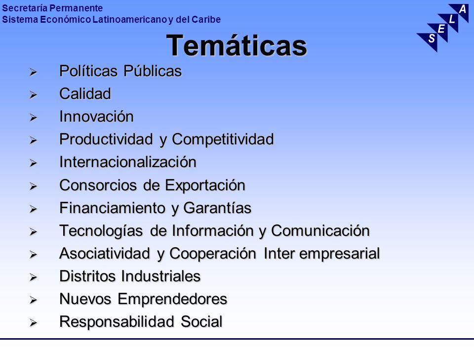 Temáticas Políticas Públicas Calidad Innovación