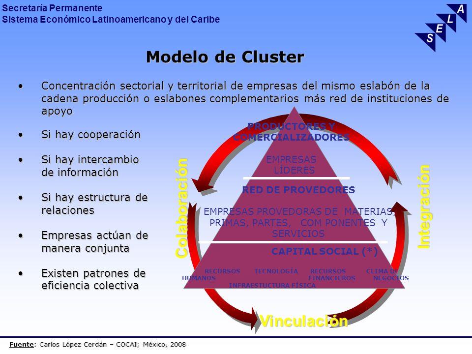 Modelo de Cluster Integración Colaboración Vinculación