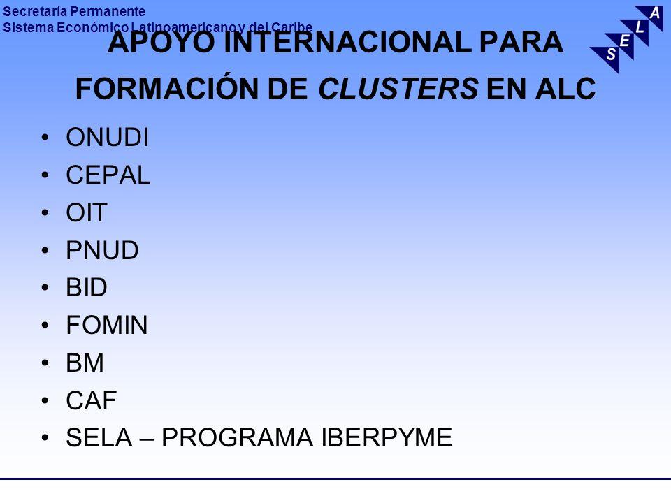 APOYO INTERNACIONAL PARA FORMACIÓN DE CLUSTERS EN ALC
