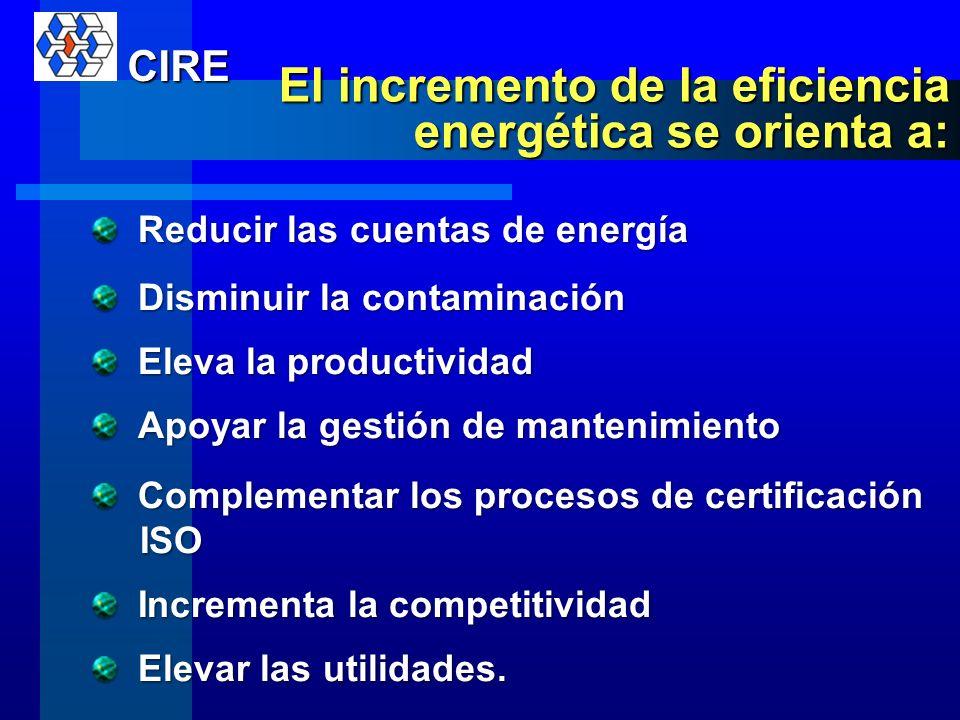 El incremento de la eficiencia energética se orienta a: