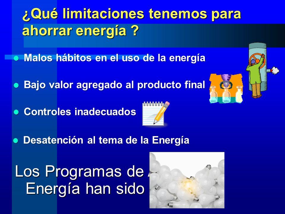 ¿Qué limitaciones tenemos para ahorrar energía