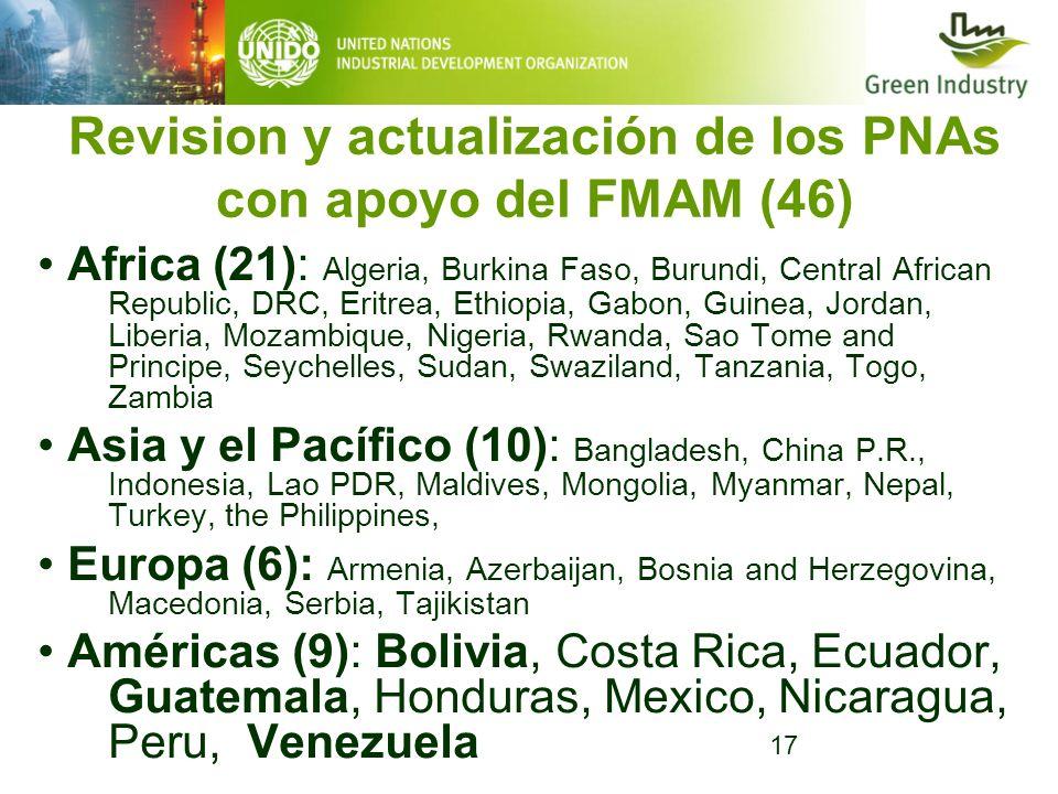 Revision y actualización de los PNAs con apoyo del FMAM (46)