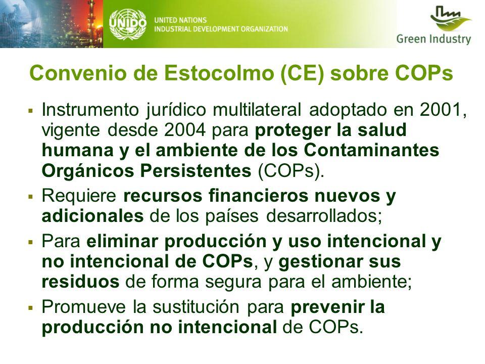 Convenio de Estocolmo (CE) sobre COPs