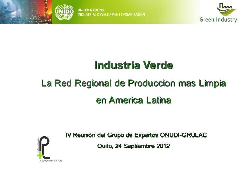 Industria Verde La Red Regional de Produccion mas Limpia