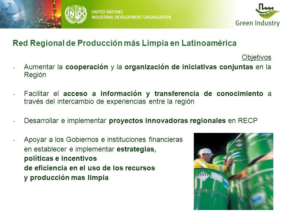 Red Regional de Producción más Limpia en Latinoamérica