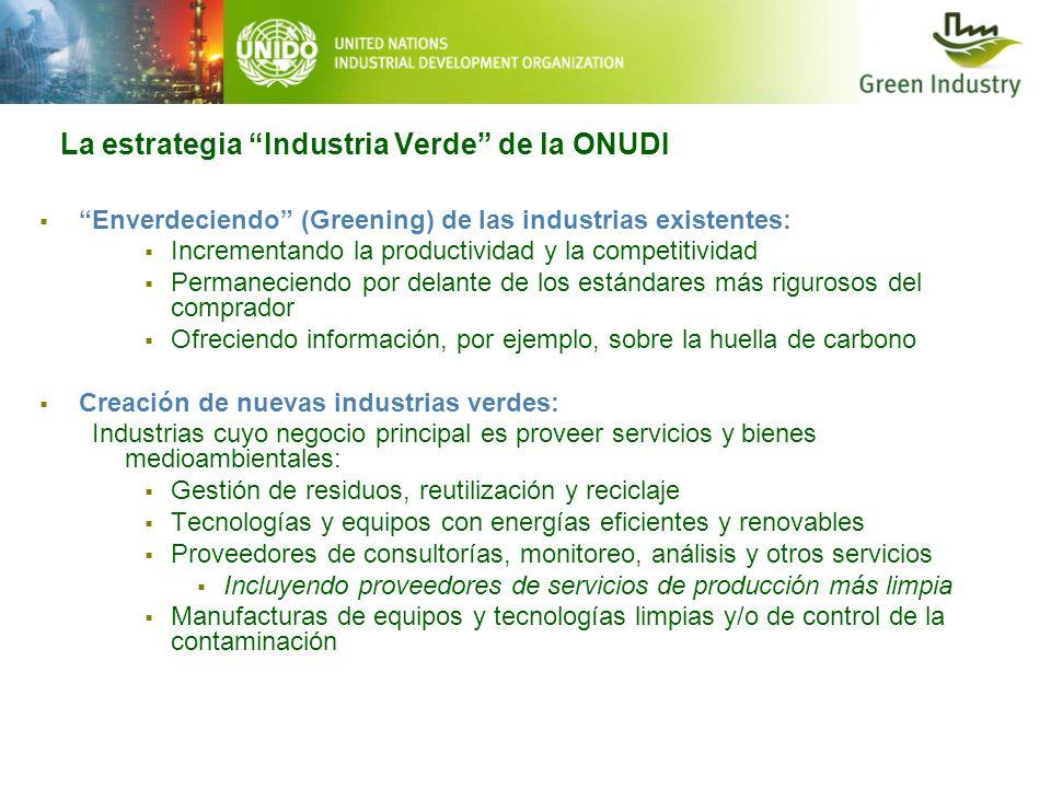 La estrategia Industria Verde de la ONUDI