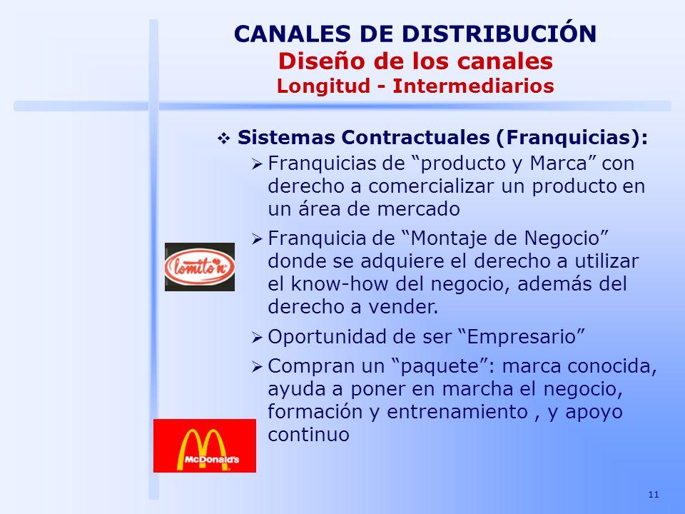 CANALES DE DISTRIBUCIÓN Diseño de los canales Longitud - Intermediarios