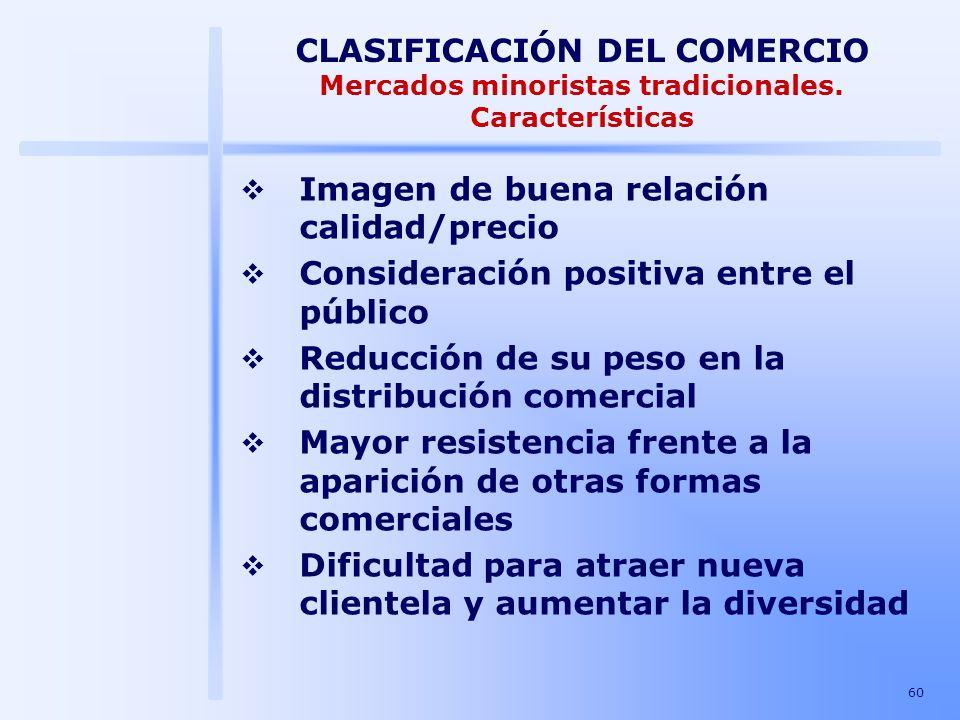 CLASIFICACIÓN DEL COMERCIO Mercados minoristas tradicionales