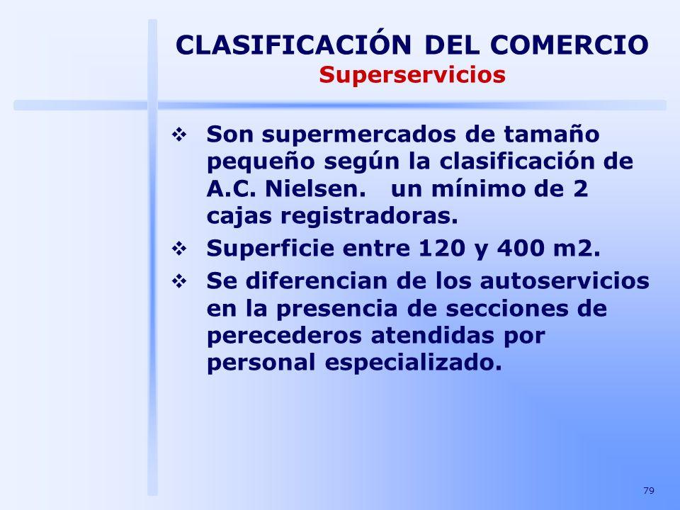 CLASIFICACIÓN DEL COMERCIO Superservicios