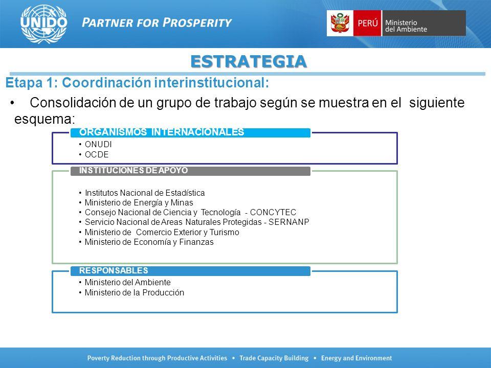 ESTRATEGIA Etapa 1: Coordinación interinstitucional: