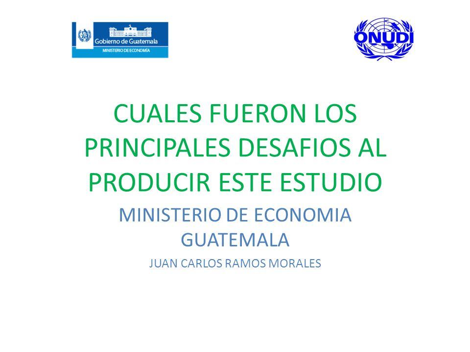 CUALES FUERON LOS PRINCIPALES DESAFIOS AL PRODUCIR ESTE ESTUDIO