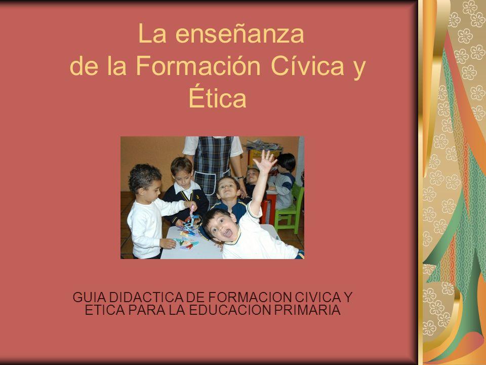 La enseñanza de la Formación Cívica y Ética