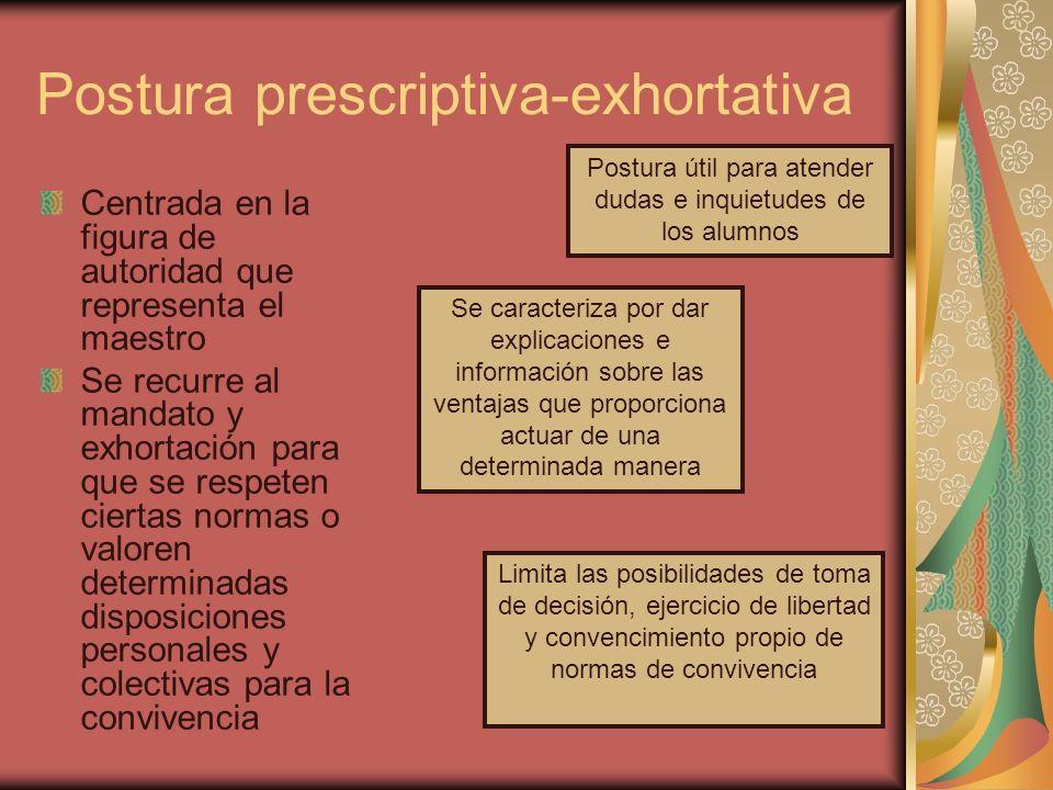 Postura prescriptiva-exhortativa