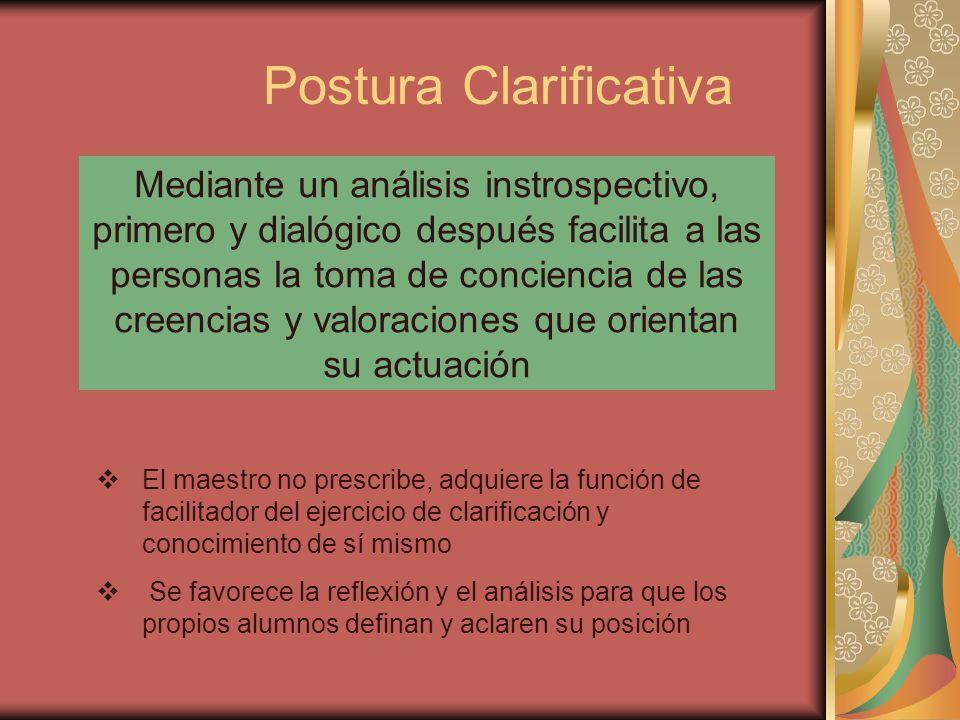 Postura Clarificativa
