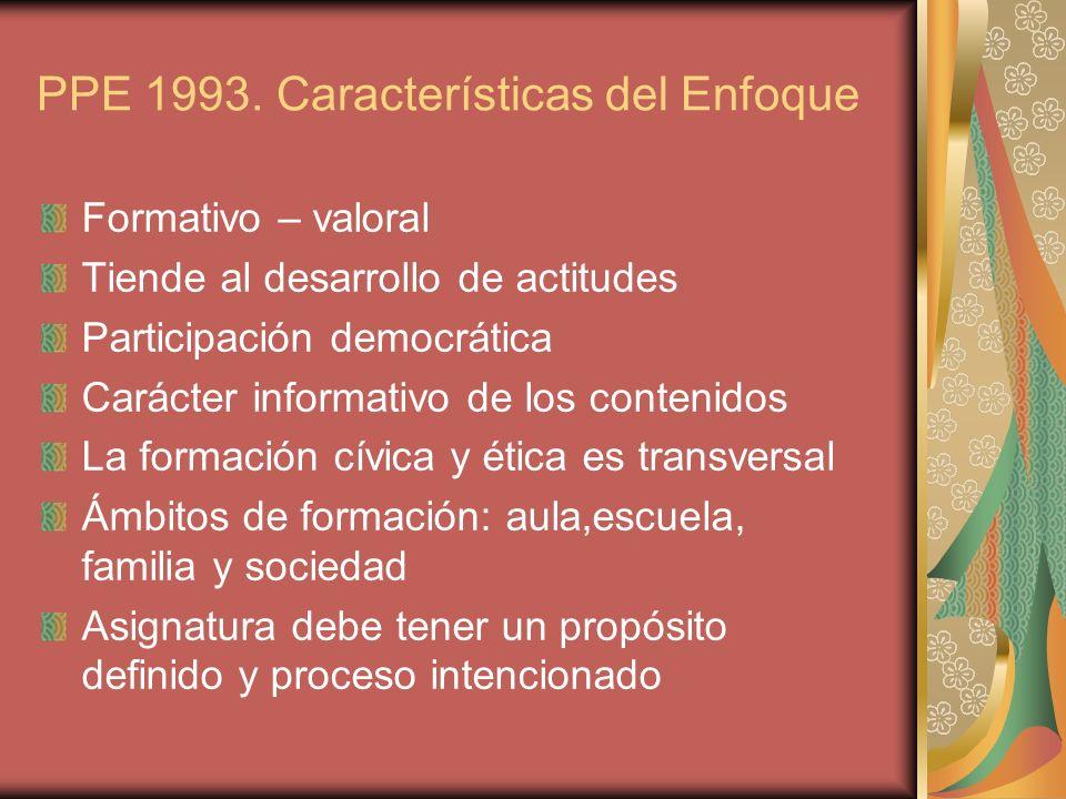PPE 1993. Características del Enfoque