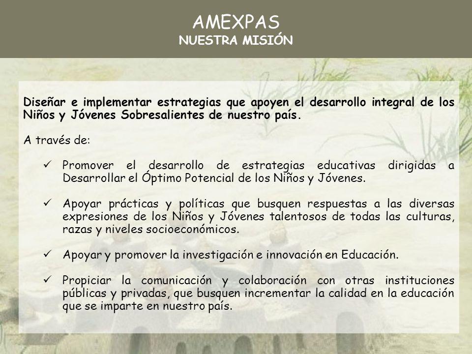 AMEXPAS NUESTRA MISIÓN