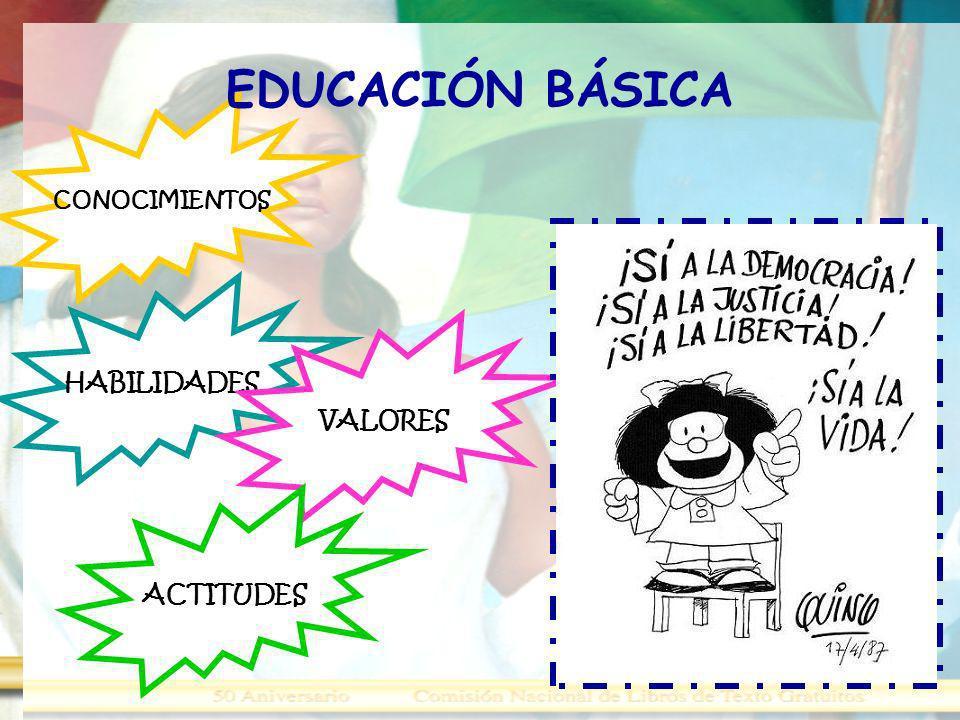 EDUCACIÓN BÁSICA CONOCIMIENTOS HABILIDADES VALORES ACTITUDES