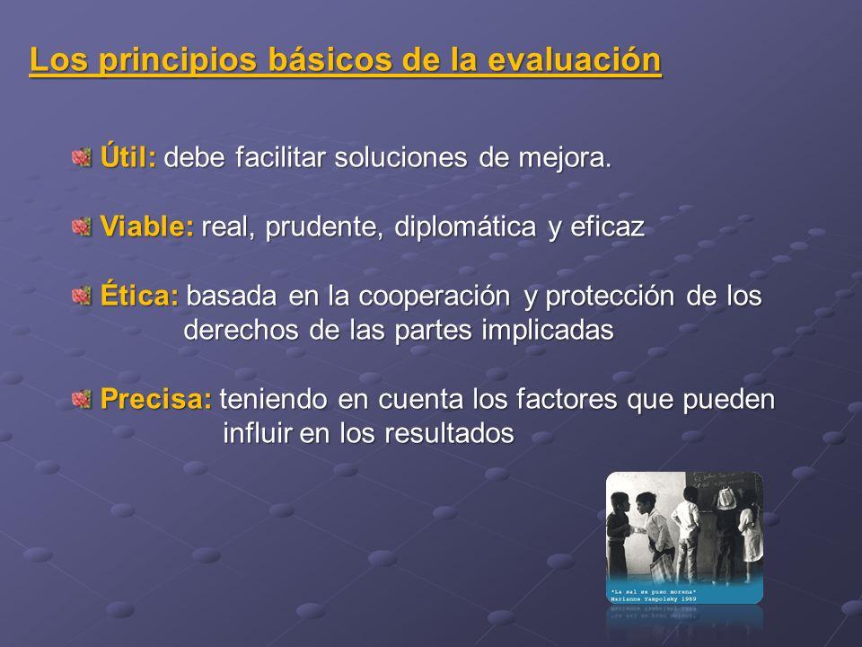 Los principios básicos de la evaluación