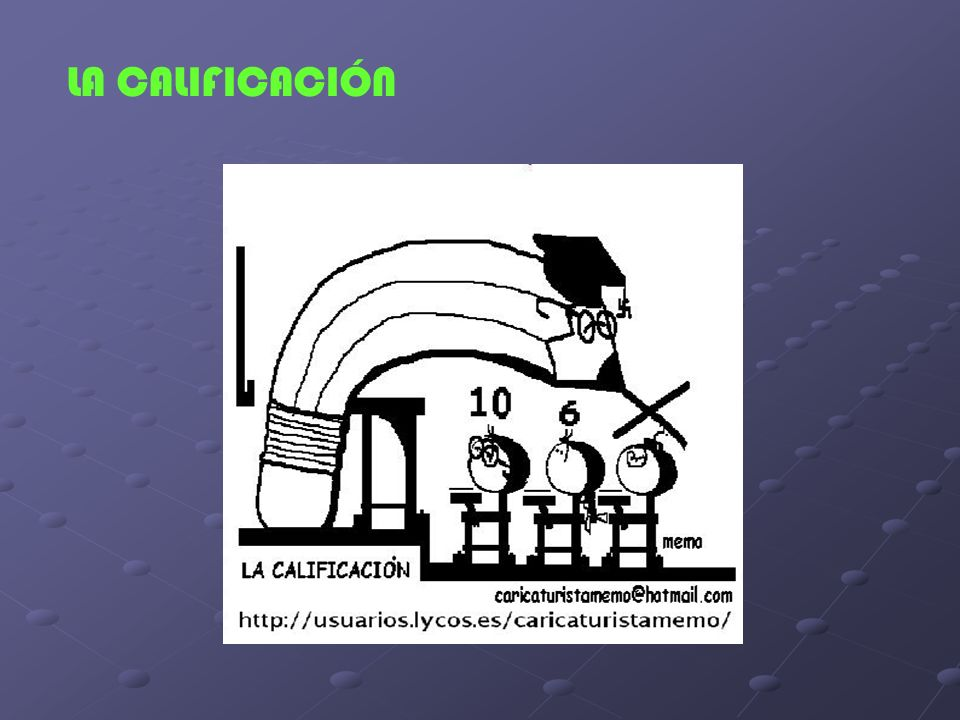 LA CALIFICACIÓN