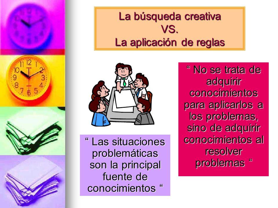 La búsqueda creativa VS. La aplicación de reglas
